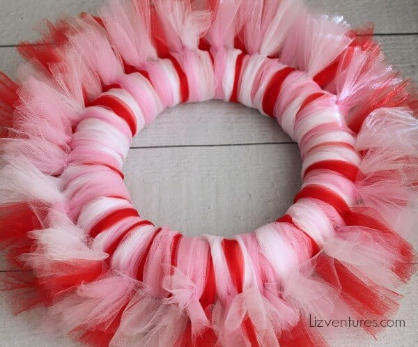 Valentines-Day-Craft-how-to-make-a-tulle-wreath