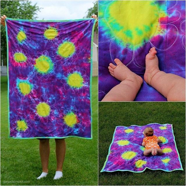 tie dye baby blanket