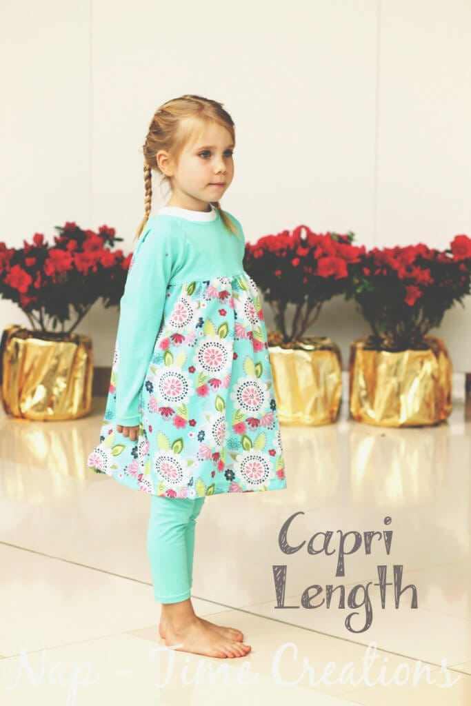free classic legging pattern for girls size 18mths- 12 years, free sewing pattern from Nap-Time Creations