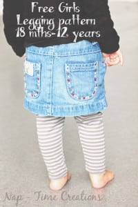 free classic legging pattern for girls2