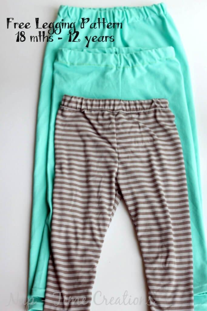 free classic legging pattern for girls6