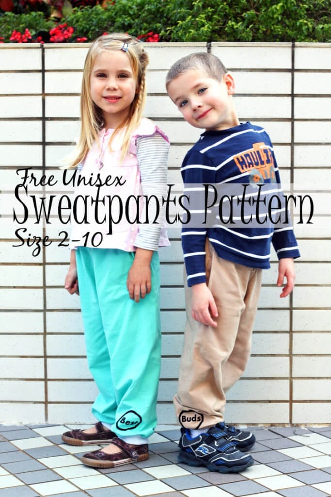 free unsiex sweatpants pattern sizes 2-10 found on Nap-Time Creations