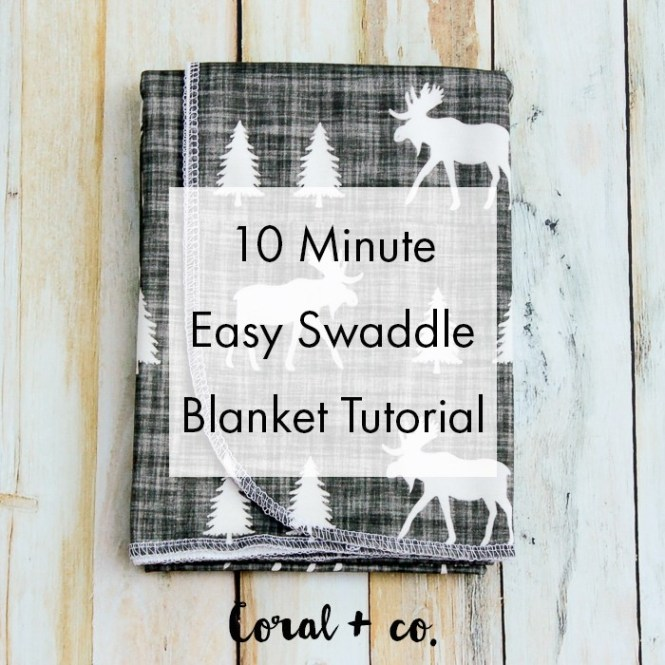 gauze swaddle baby blanket tutorial