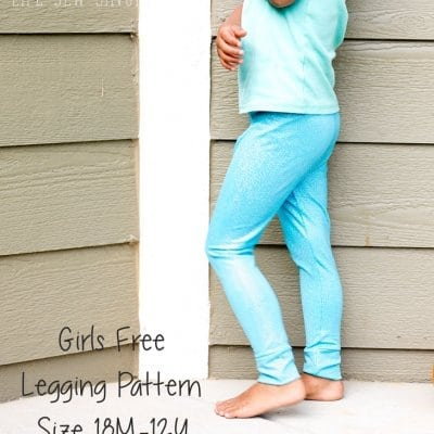 Free Classic Legging Pattern for Girls 18 mths-12 years