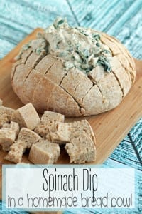 spinach dip in bread bowl3