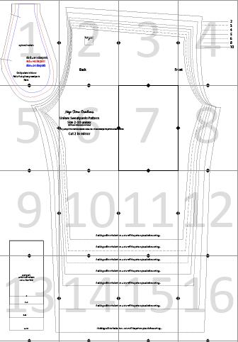 sweatpants pattern layout