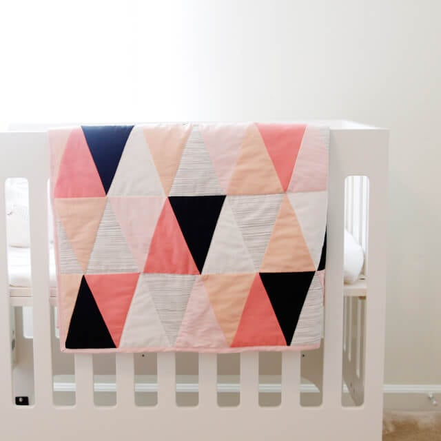 triangle baby blanket