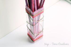 Washi Valentines Vase