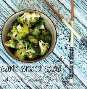 Garlic Broccoli Salad with Black Sesame Seeds