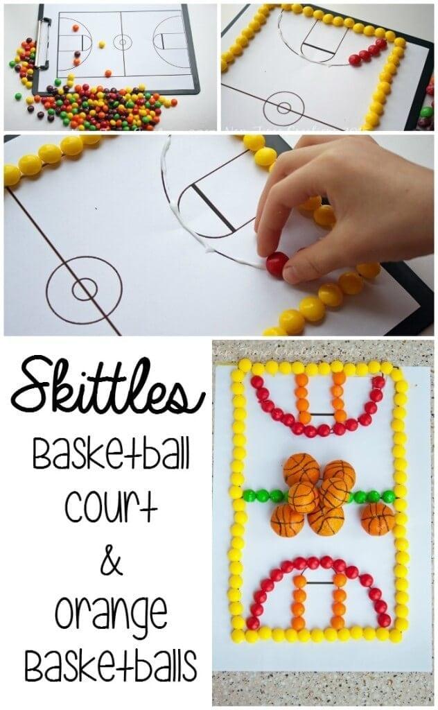 Skittles Basketball court