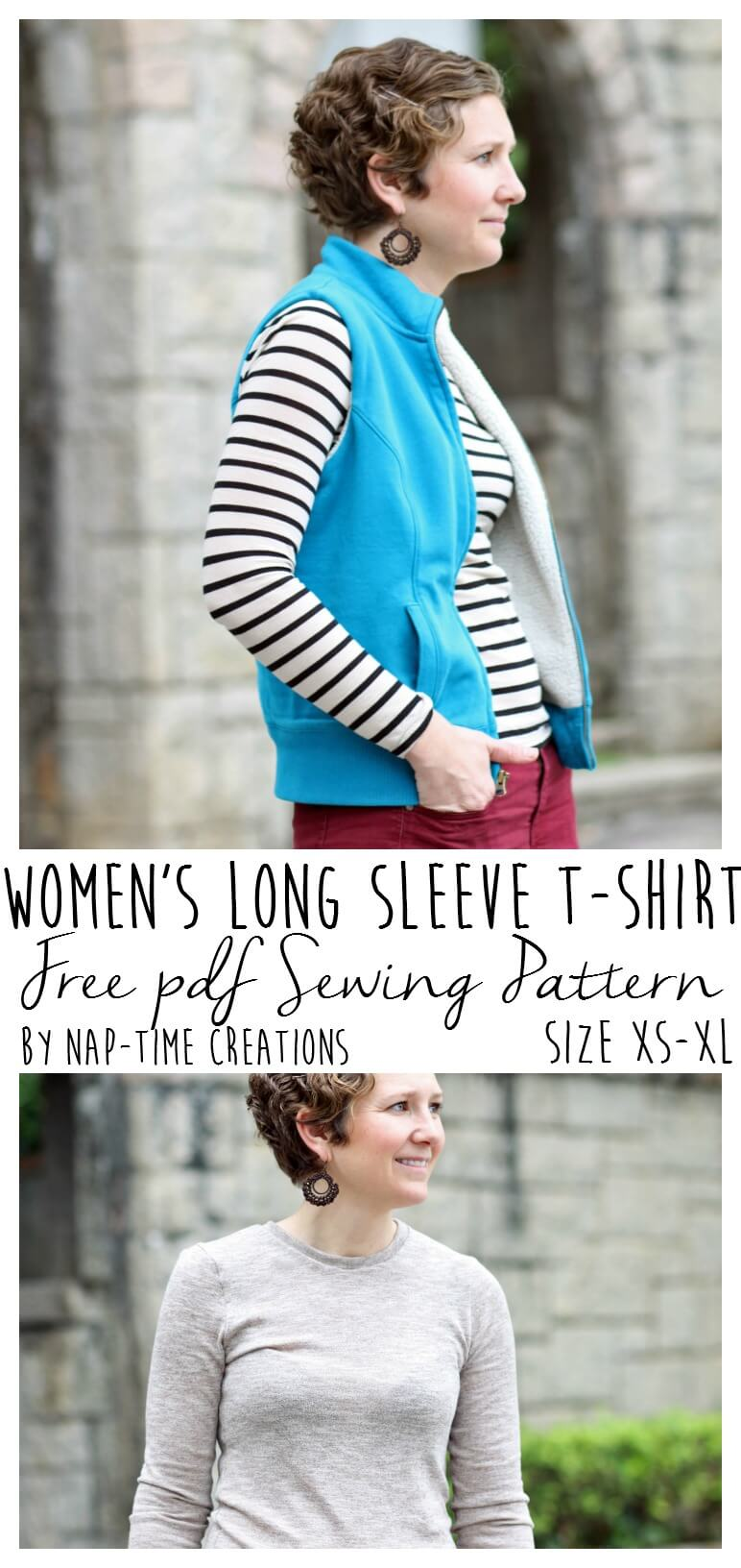 Womens long sleeve t shirt pattern free life sew savory for Long sleeve shirt pattern