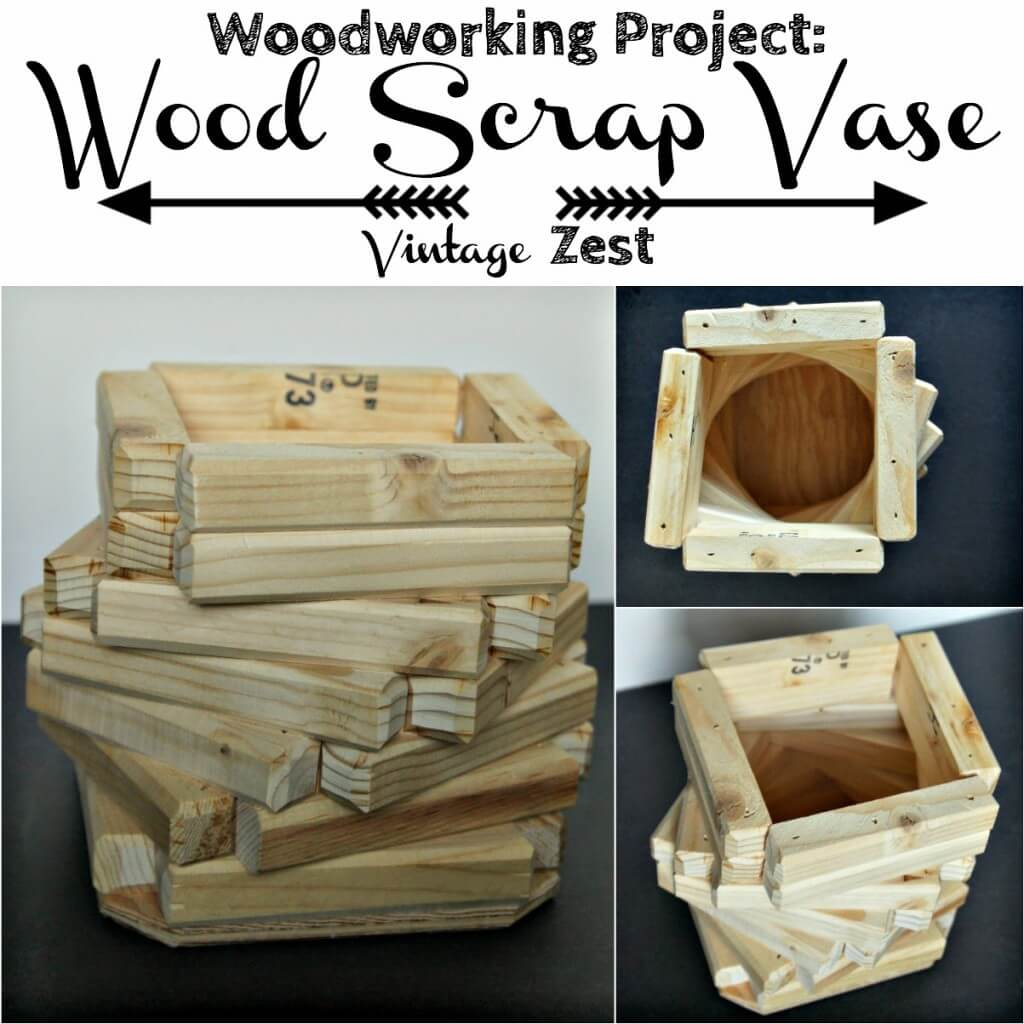 Wood Scrap Vase 1