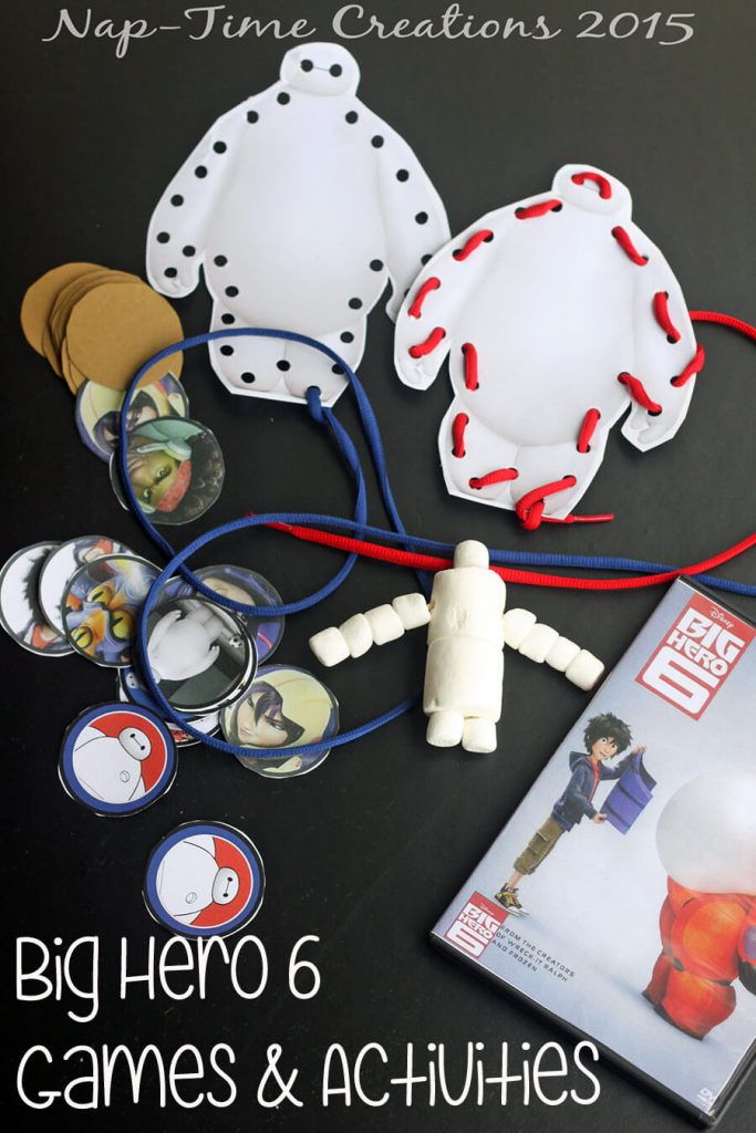 Big Hero 6 games and  activities for a movie night party.  On Nap-Time Creations #BigHero6MovieNight  @Target #ad