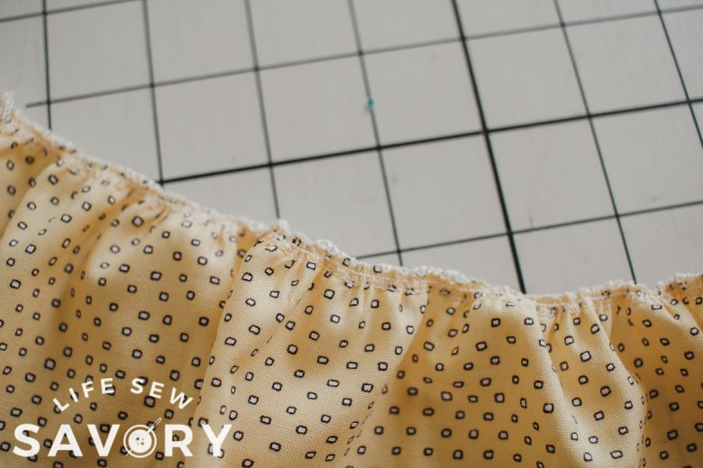 gather fabric with a serger sewign machine