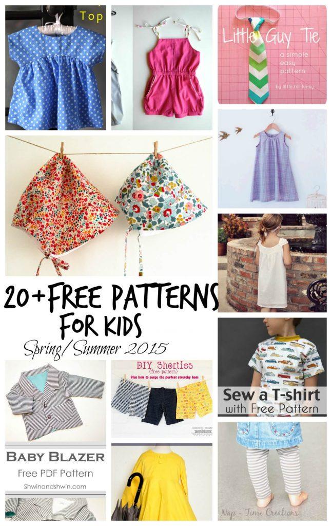 Free Sewing patterns for Kids SpringSummer 2015