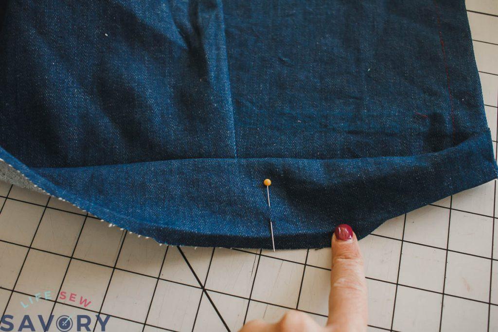 add button hole on side seam