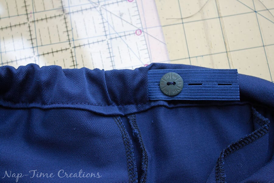 adjustable waistband tutorial 3