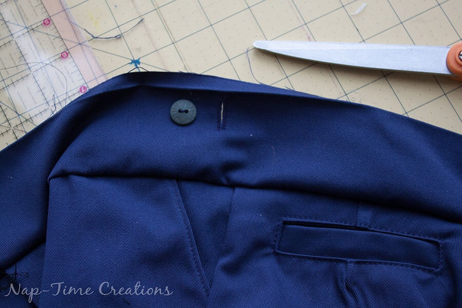 adjustable waistband tutorial 9