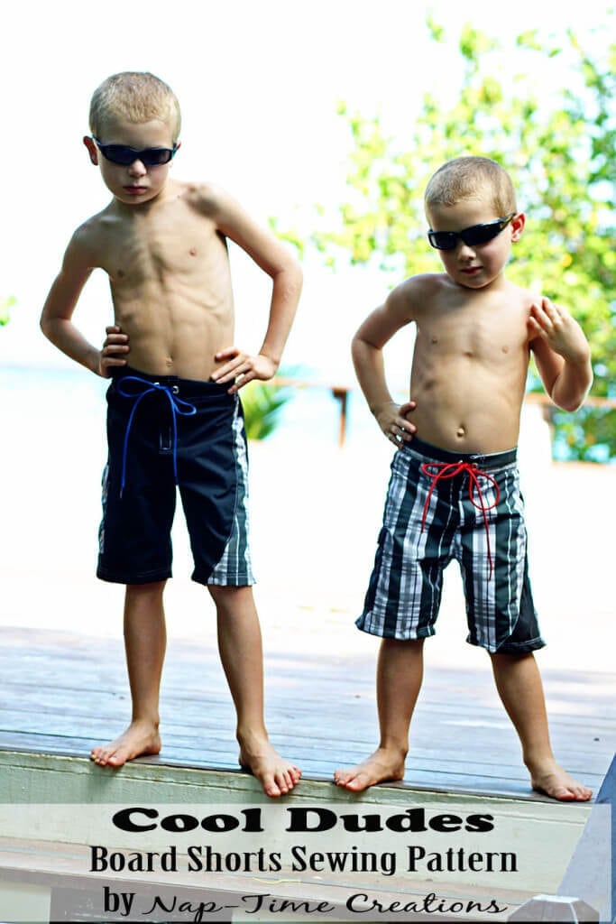 board shorts sewing pattern size 2-10boys from Nap-Time Creations