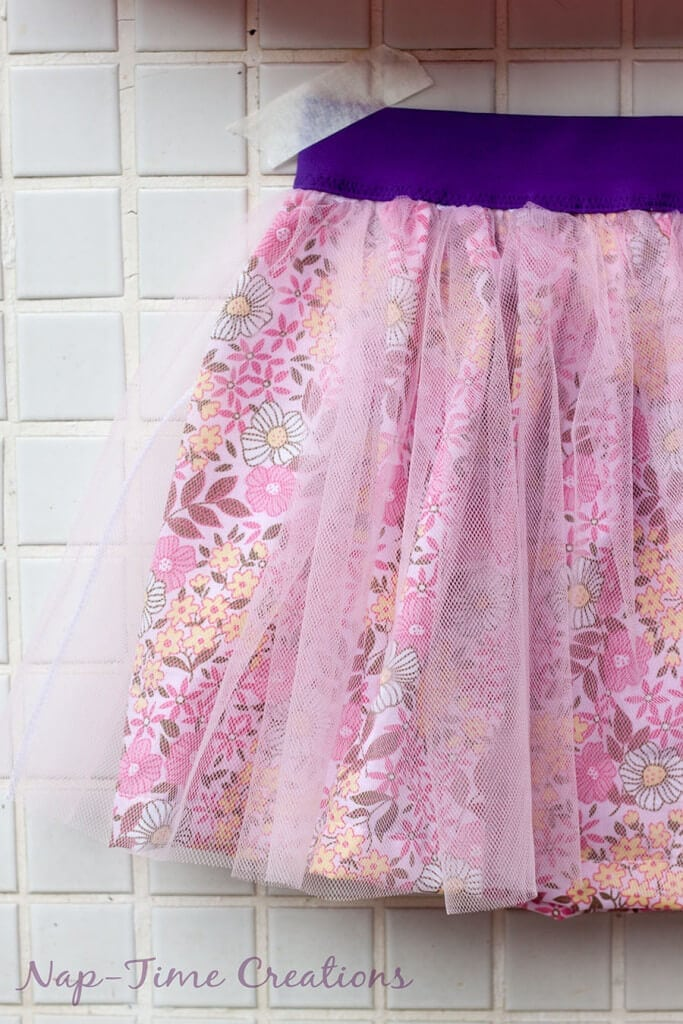 cotton and tulle skirt tutorial