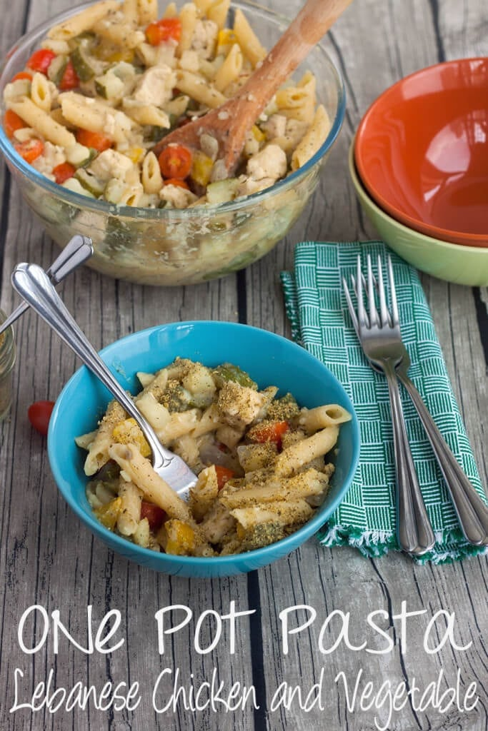 One Pot Lebanese Chicken pasta #OnePotPasta from Nap-Time Creations #ad #PMedia