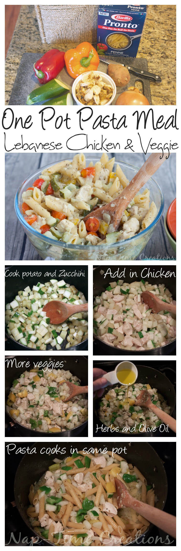 One Pot Lebanese Chicken pasta #OnePotPasta #ad #PMedia on Nap-Time Creations