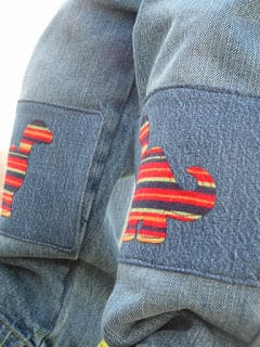 dino knee pants patches
