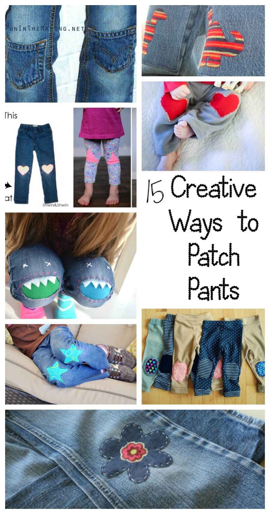 15 Creative Ways to Patch Pants, leggings and Pjs from Nap-Time Creations