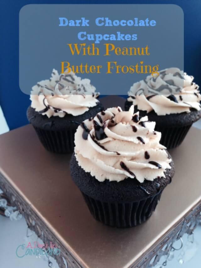 Dark-Chocolate-Peanut-Butter-Cupcakes