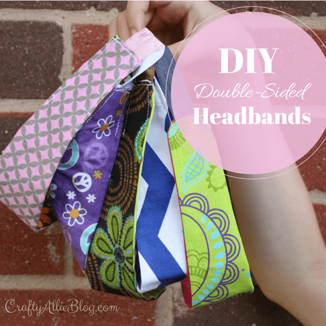 Double-sided reversible  headbands crafty allie