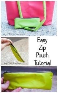 Easy Zipper Pouch Tutorial