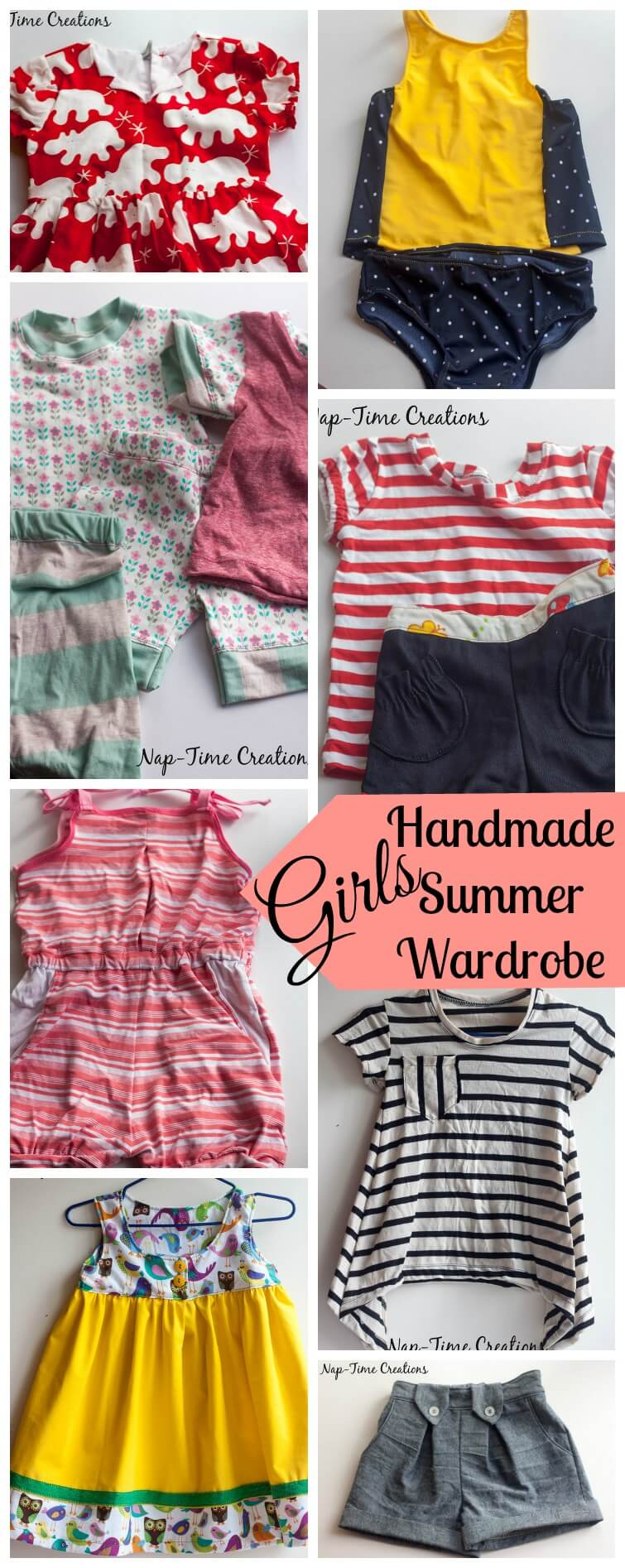 girls handmade summer wardrobe