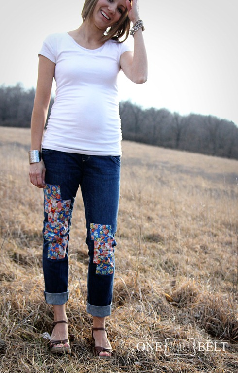 floral patches for pants