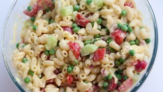 Low Fat Pasta Salad with Vegetables