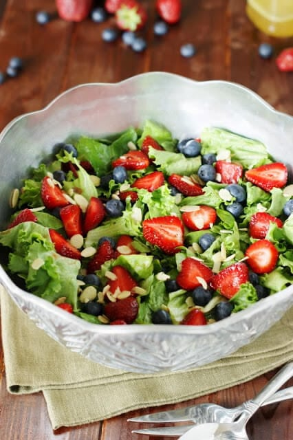 Strawberry-Blueberry-and-Greens-Salad-with-Honey-Vinaigrette 2