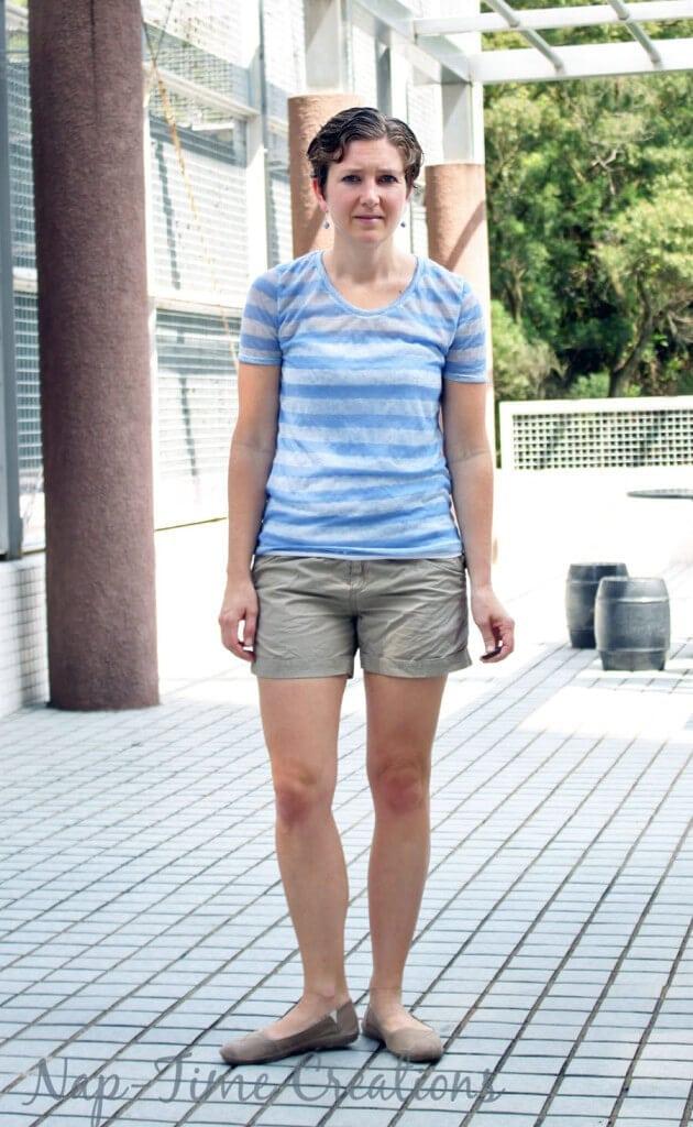 Women's Short Sleeve T-Shirt Free Pattern1