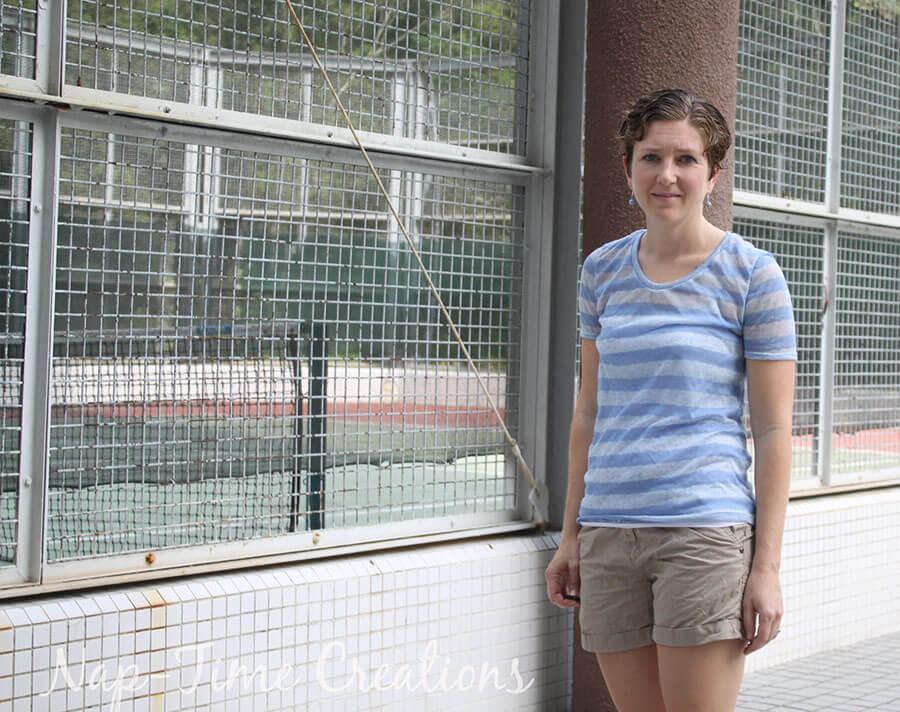 Women's Short Sleeve T-Shirt Free Pattern4