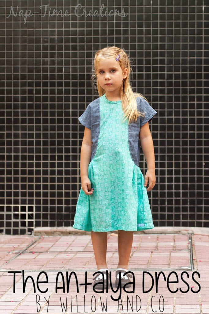 The Antalya Dress by Willow and Co patterns sewn by Nap-Time Creations