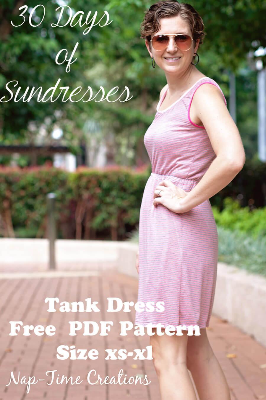 Womens tank dress free pattern life sew savory womens tank dress free pattern size xs xl made with knit fabric ombrellifo Images