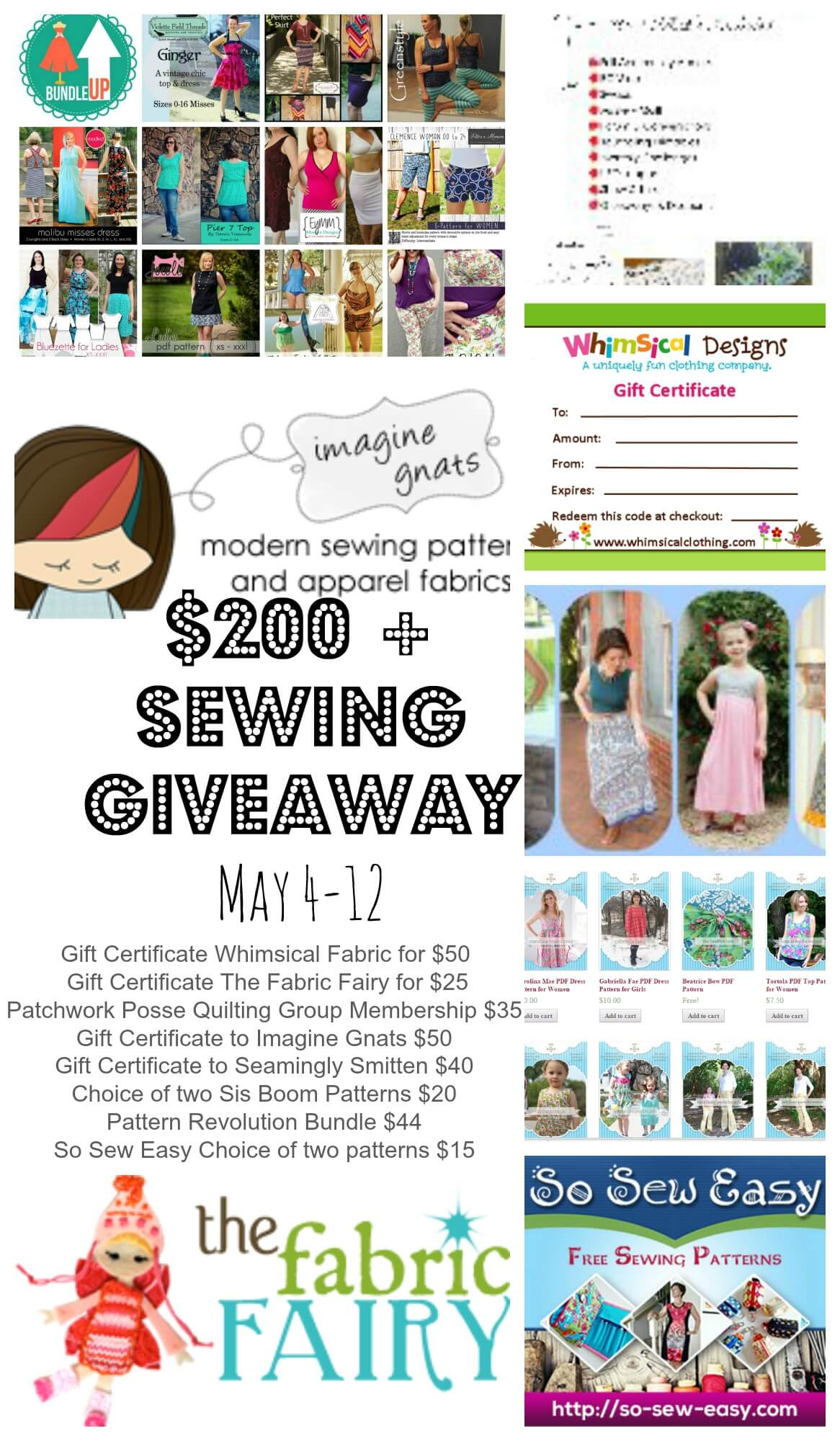 Huge Awesome Sewing Giveaway {closed}