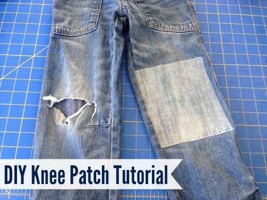DIY pants patches tutorial
