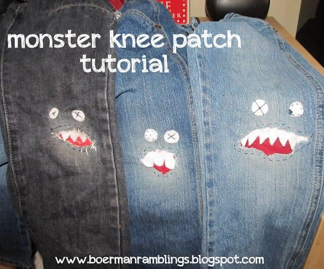 monster knee patch tutorial