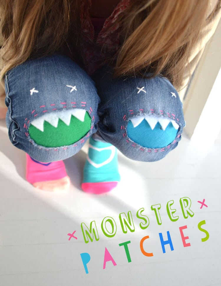 monster pant patches