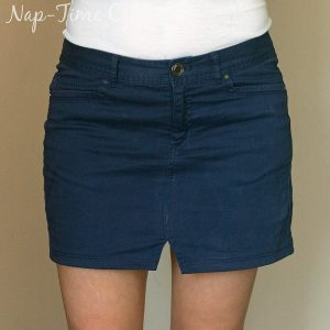 Pants to Skirt Refashion Tutorial