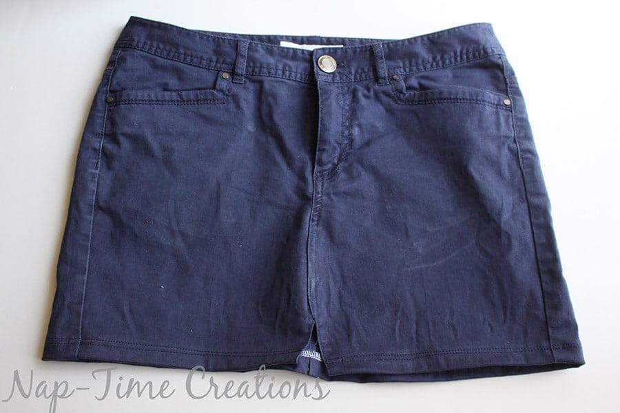 pants to skirt refashion tutorial1