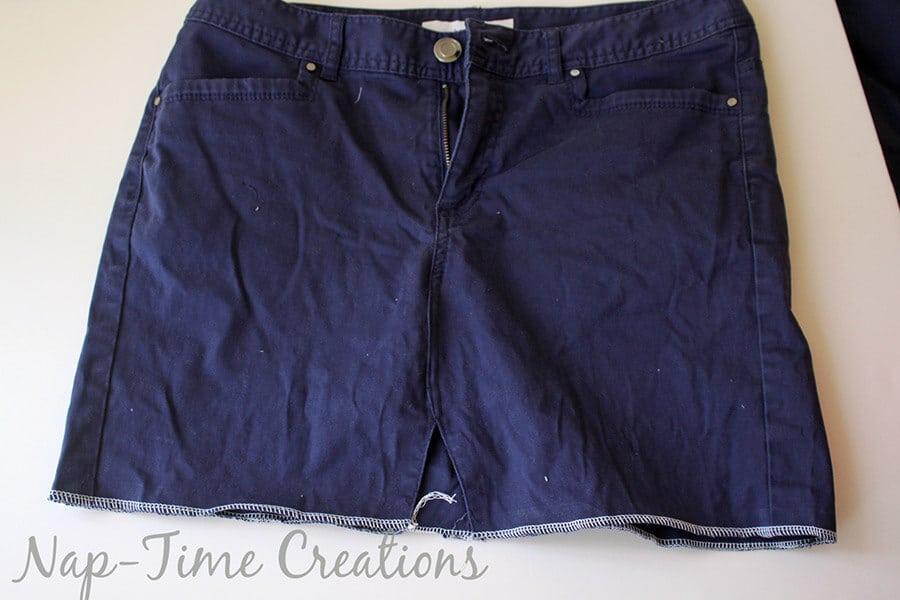 pants to skirt refashion tutorial2