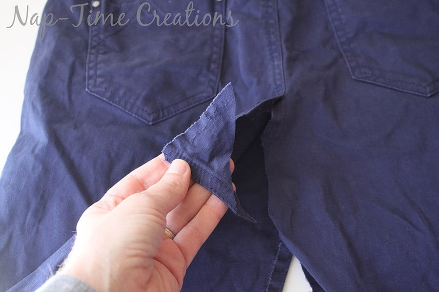 pants to skirt refashion tutorial4