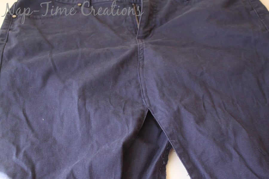 pants to skirt refashion tutorial5