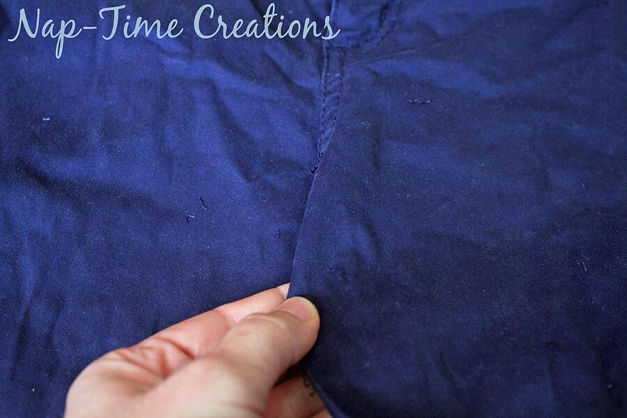 pants to skirt refashion tutorial7
