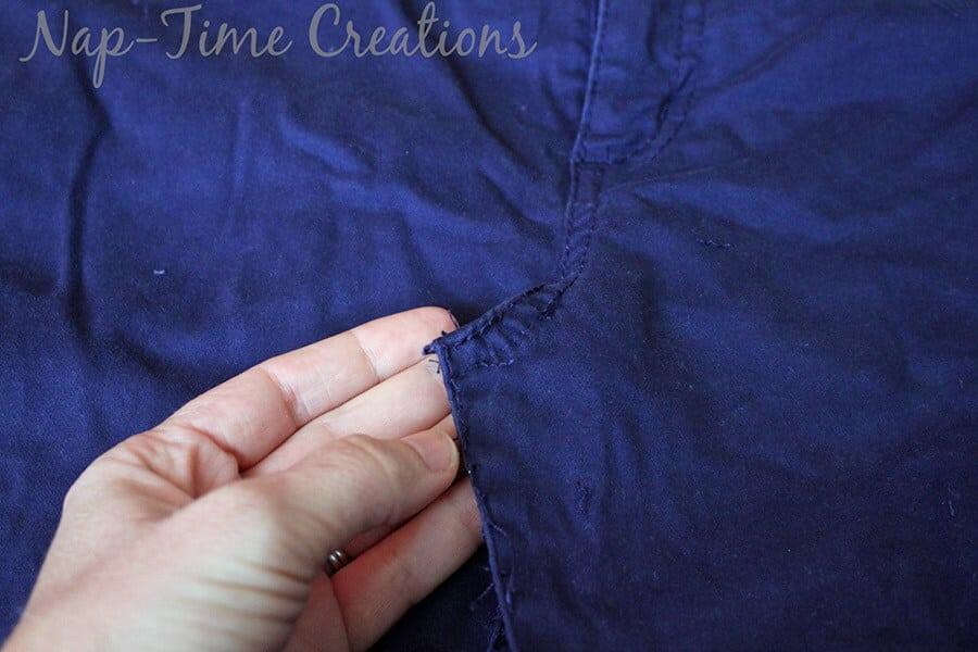 pants to skirt refashion tutorial8